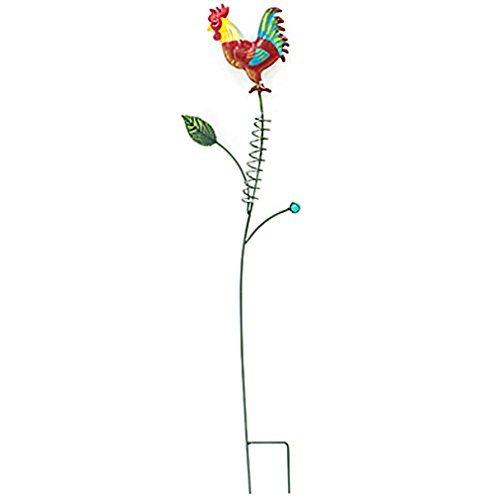 Regenmesser Metall Glas Garten-Stecker Garten-Deko mit Hahn Verzierungen Details. von Haus der Herzen® unbekannt