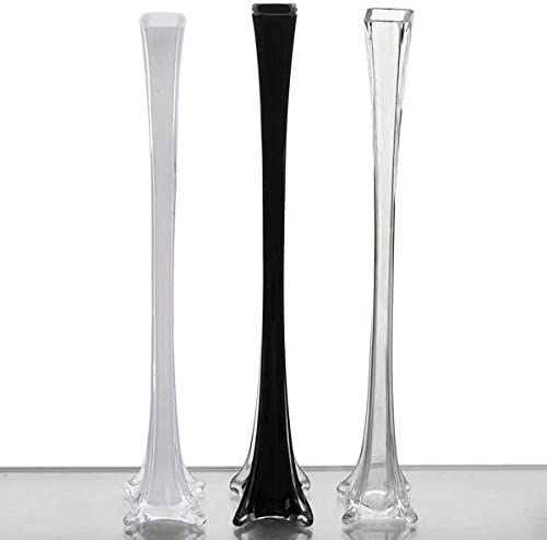 Tableclothsfactory 24 Eiffel Tower Wedding Glass Vases-6 PCS-White