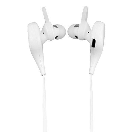 eDealMax Telefono Chiamate in vivavoce con cancellazione del rumore Auricolari Bluetooth Bianco w cavo USB