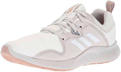adidas Women's Edgebounce Running Shoe, White/Grey/ash Pearl, 5.5 M US
