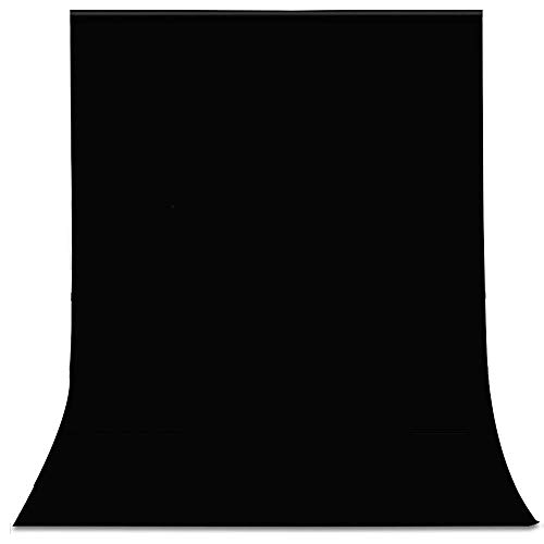 - Black 10x20FT/3x6M Photo Studio Backdrop Polyester Fabric Background for Photography, Video and Television (Background Only) (Black, 10x20FT/3x6M)