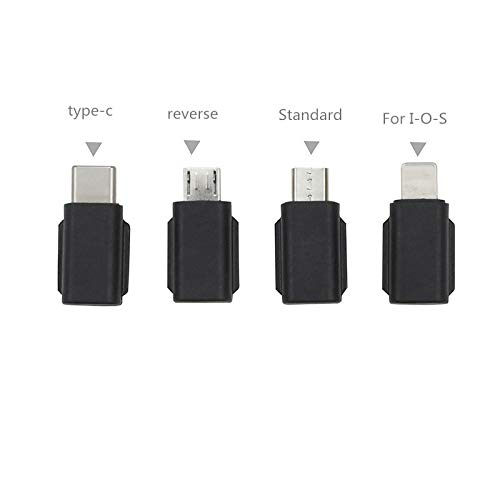 HUAYE Osmo Pocket Mobile Phone Connector Adapter USB Conversion Suitable for DJI Osmo Pocket Camera (iOS/Type-c/Android Forward/Android Reverse) (iOS)