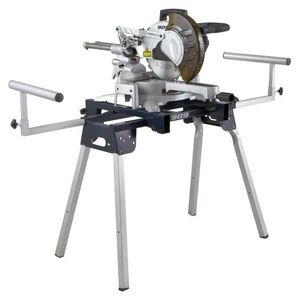 909MSC 15 amp 10 inch Single Bevel Laser Guided Slide Miter Saw (10CSMS) + Miter Saw Work Stand (MSS38000)
