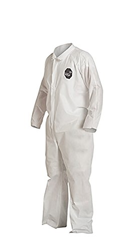 DuPont ProShield 10 PB120S Protective Coverall with Serged Seams, Disposable, Open Cuff and Ankles, X-Large, White (Pack of 25) by DuPont (Image #4)