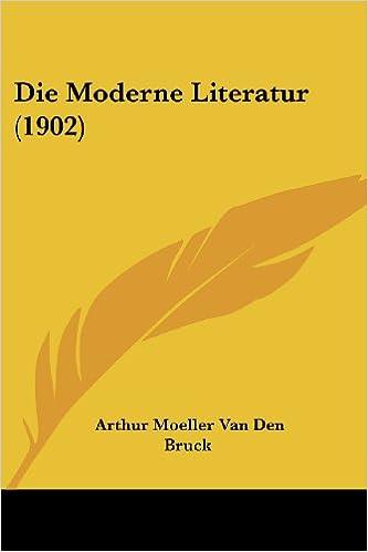 Book Die Moderne Literatur (1902)