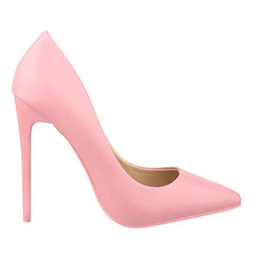 Elara Damen Pumps Spitz | Moderne High Heels | Bequeme Stilettos | Chunkyrayan Rosa