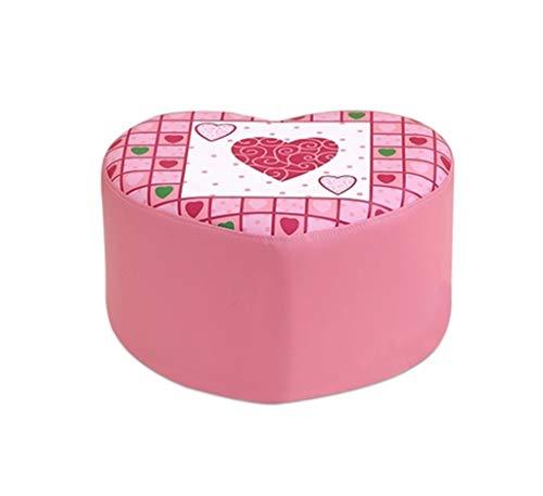 - MQDTYM Children's Stool,  Lovely Change Shoe Bench  Pink Princess Stool Soft Case Sofa Stool Low Stool Love Stool Simple Modern Multifunctional Stool Heart Stool 42x37x25cm