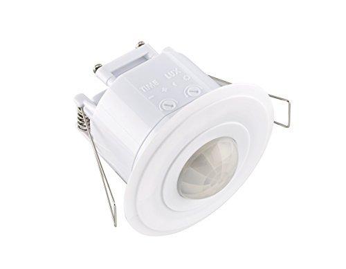 LE ELECTRONIC PM220 plafond 360 Angle 5 m de rayon de sécurité Détecteur de mouvement PIR capteur de lumière automatique Interrupteur (Blanc) LE Electronics Product Limited