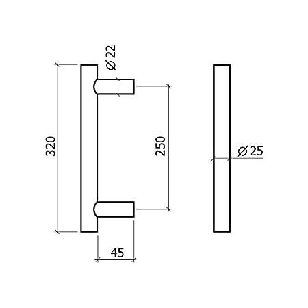 Gris GLK 625250S Manill/ón 250 mm