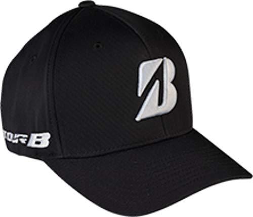 (Bridgestone New 2015 Golf Tour Fitted Performance Flexfit Cap Hat, Black, SMA.)