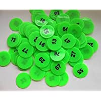 ARFA Prime Plastic Token with Numeric Numbers 1 to 100 - Pack of 100 Coins