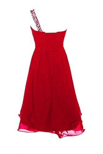 Ein Brautjungfernkleider Chiffon Damen Cocktailkleider Kleid Kurz Partykleider Rot Abendkleider Schulter CoutureBridal® a8ExUwnP8