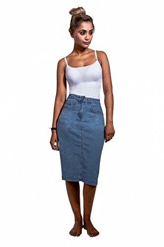 Stretch Denim Straight Skirt - 3