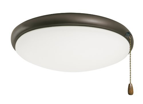 Emerson Ceiling Fans LK65WW Moon Light Fixture for Ceiling Fans, Candelabra, Appliance White Ceiling Light with Pull Chain by Emerson
