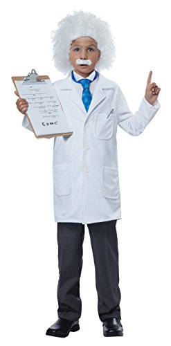 California Costumes Albert Einstein/Physicist Costume, Medium, White/Blue -