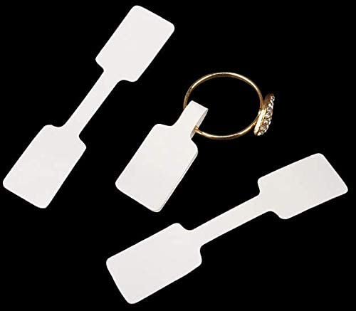 VNDEFUL 100PCS Blank Price Tags Necklace Ring Jewelry Sticker Square Barbell Labels Paper Stickers