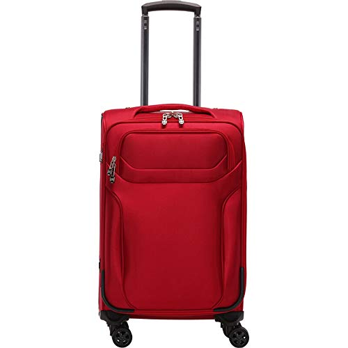 Crystalzhong Hard Shell Hand Luggage Suitcases Luggage Carry On Expandable Softside Suitcase with Spinner Wheels for…