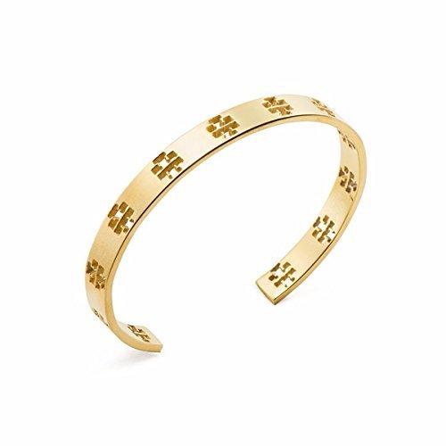 Tory Burch Pierced T Cuff Bracelet, Tory Gold 6226