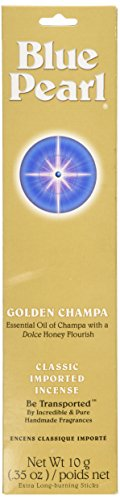Blue Pearl Classic Fragrance Incense, Prem Golden Champa, 10 Gram