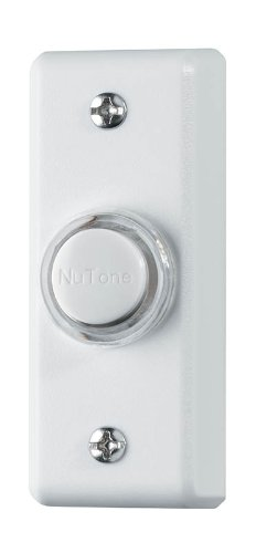 NuTone PB69LWH Wired Lighted Door Chime Push Button, White (White Door Chime Button)