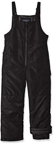 (London Fog Boys' Toddler Classic Snow Ski Bib Snowsuit, Real Black, 4T)