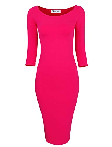 TAM WARE Womens Classic Slim Fit Bodycon Midi Dress