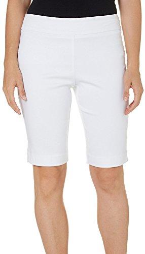 Super Short Shorts - Counterparts Womens Super Stretch Shorts 8 White
