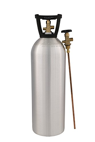 Empty Tank (Cyl-Tec 20 lb co2 Tank - New Aluminum Cylinder with CGA320 Valve and Siphon)