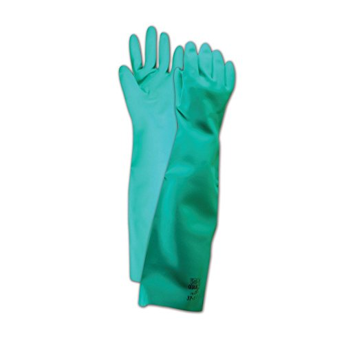 Ansell Gloves 102945 Ansell Sol-Vex 37-185 Unsupported Nitrile Gloves, Size 9, Green (Pack of 12) by Ansell Gloves