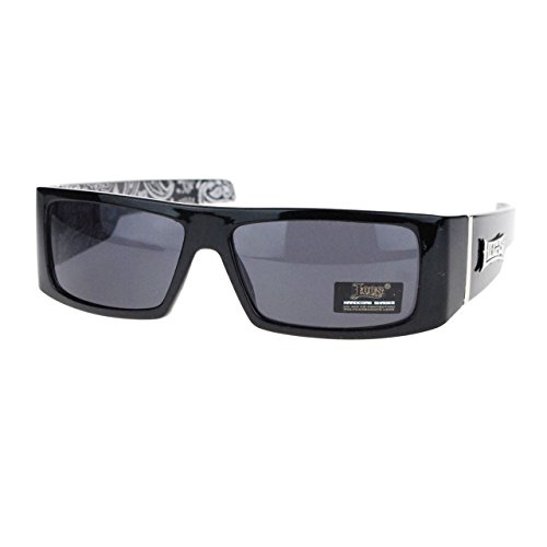 Bandana Inside Print Locs Cholo Gangster Rectangular Mad Dog Sunglasses - Mad Glasses Dog