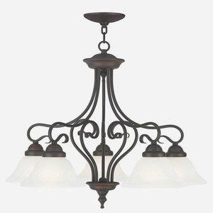 - Livex Lighting 6135-07 Coronado 5 Light Dinette, Bronze