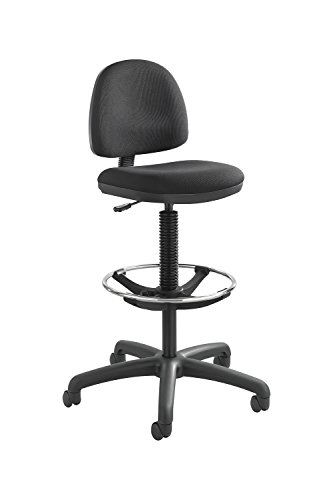 Precision Extended-Height Chair with Footring Black Electronics, Accessories, Computer