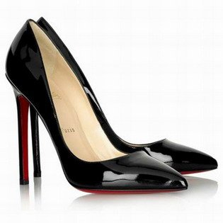 christian louboutin pigalle black patent pumps