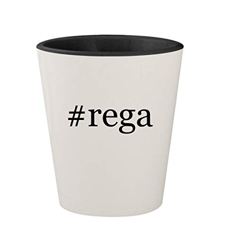 Price comparison product image #rega - Ceramic Hashtag White Outer & Black Inner 1.5oz Shot Glass