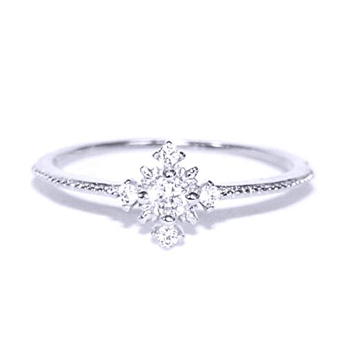 (Gieschen Jewelers FAITH .925 Sterling Silver CZ Tiny Star Ring, Size 5)