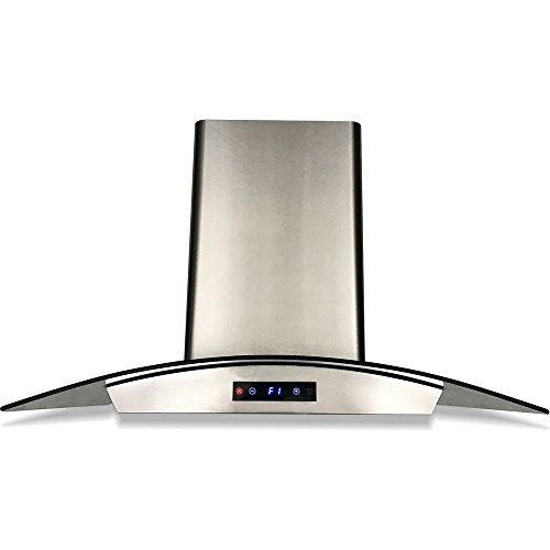 600 Cfm Wall Hood - CAVALIERE SV198D-30E Wall-Mounted Stainless Steel Range Hood with Tempered Glass Canopy and Baffle Filters