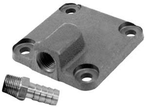 EMPI 31-2940-0 VW Bug, Sand Rail Full Flow Oil Pump Cover w/Fitting and Gasket, (Oil Pump Cover)