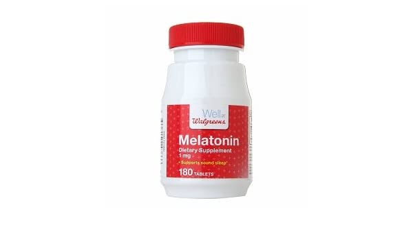 Amazon.com : Walgreens Melatonin 1mg, Tablet, 180 ea : Medicinal Sleep Aids : Beauty