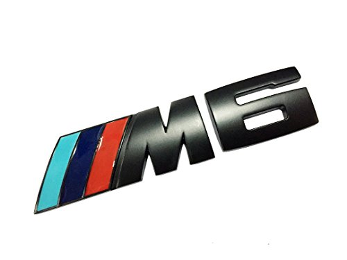 Dian Bin- Colorful Flags M6 Metal Black Sticker Vehicle-logo Emblem Badge for BMW Available (Bmw M6)