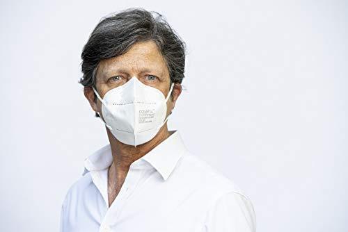 COVAFLU KN95 Disposable Fold Flat Face Mask (Pack of 10 KN95 Face Masks) 316lnlT3i3L