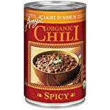Amy's Light in Sodium Organic Spicy Chili, 14.7-Ounce Cans ( Value Bulk Multi-pack) (Pack of 36)