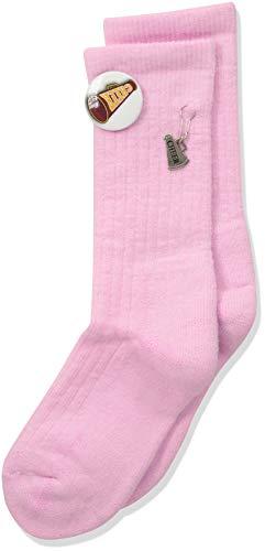(Thorlos Junior's Express Yourself Cheer Crew Socks, pink, Medium)