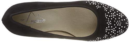 Negro schwarz Para Cerrada Punta 002 Zapatos Mujer Hirschkogel Tacón De Con 3006802 wnUzx0qOv7