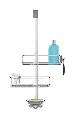 - simplehuman Stainless Steel and Anodized Aluminum Over Door Shower Caddy