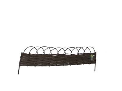 Master Garden Products Woven Willow Edging with Arc Top, 16 by 47-Inch