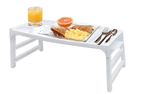Portable Folding Serving TV Bed Tray Table - Lightweight Snacks Food Breakfast Lap Tray in Bed at Home 20