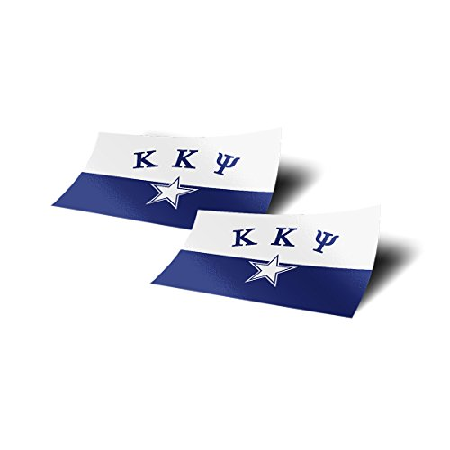 Kappa Kappa Psi Fraternity Flag Two Pack Sticker Decal Exclusively Designed 4 Inch Greek for Window Laptop Computer Car Sign Decor KKPsi