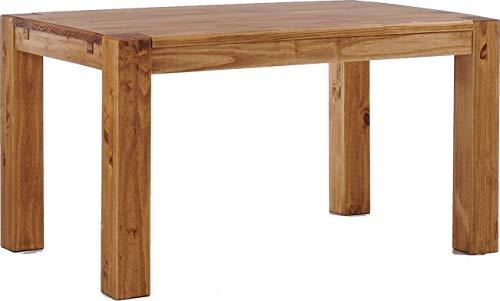 Brasilmoebel-Esstisch-Rio-Kanto-160x90-cm-Brasil-Pinie-Massivholz-Groesse-und-Farbe-waehlbar-Esszimmertisch-Kuechentisch-Holztisch-Echtholz-vorgerichtet-fuer-Ansteckplatten-Tisch-ausziehbar