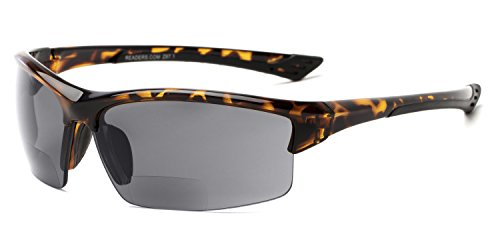 The Foster Bifocal Sun Reader +2.00 Tortoise with Smoke Reading Sunglasses by Readers