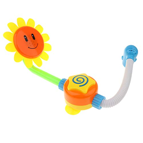 B Blesiya Flower Kids Bath Shower Spray Sprinkler Fountain Toy Bathroom Accessories